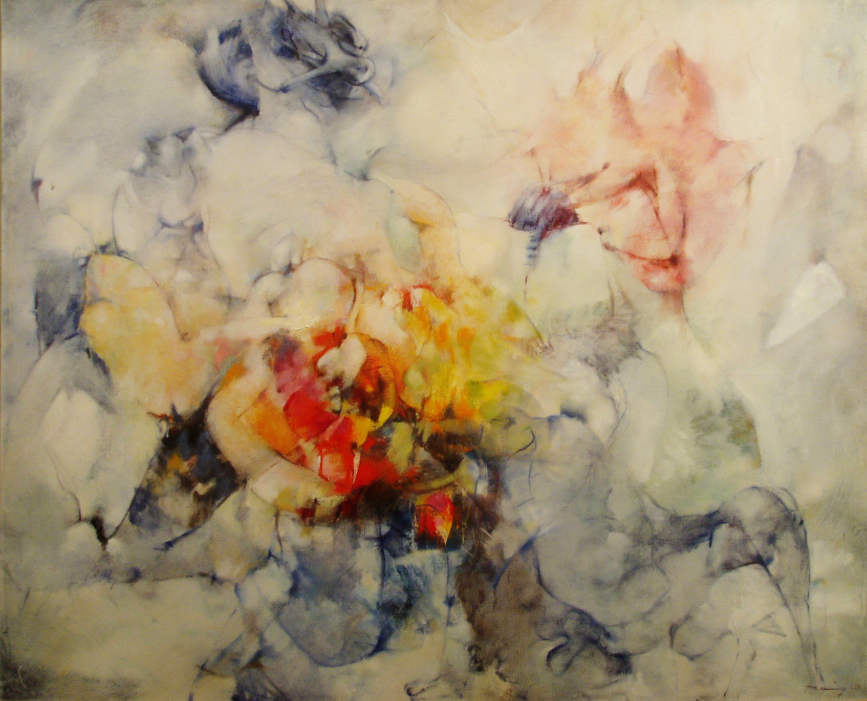 Dorothea Tanning,  Ignoti Nulla Cupido , 1960, Oil on canvas, 32 x 39 inches (81.3 x 99.1 cm)