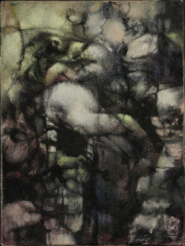 Dorothea Tanning,  Untitled , 1960, Oil on canvas 6 x 5 inches (15 x 13 cm)