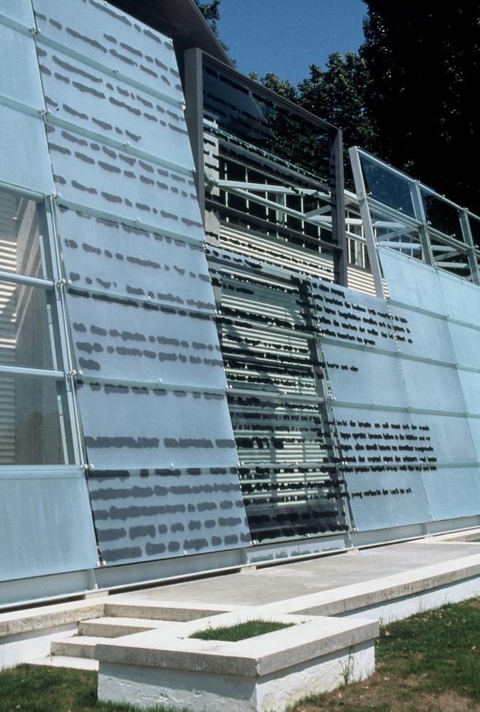 Eva Schlegel, installation view of Austrian Pavilion facade, 1995, in collaboration with the Biennale di Venezia, Vienna, Austria