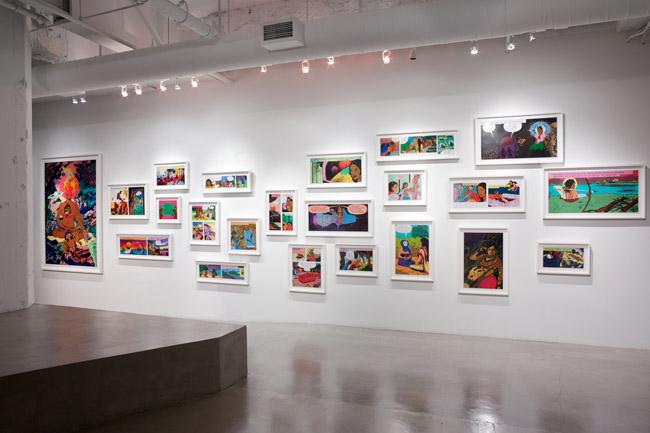 Chitra Ganesh: Flickering Myths, installation view, Gallery Wendi Norris, San Francisco, CA, November 1 — December 22, 2012