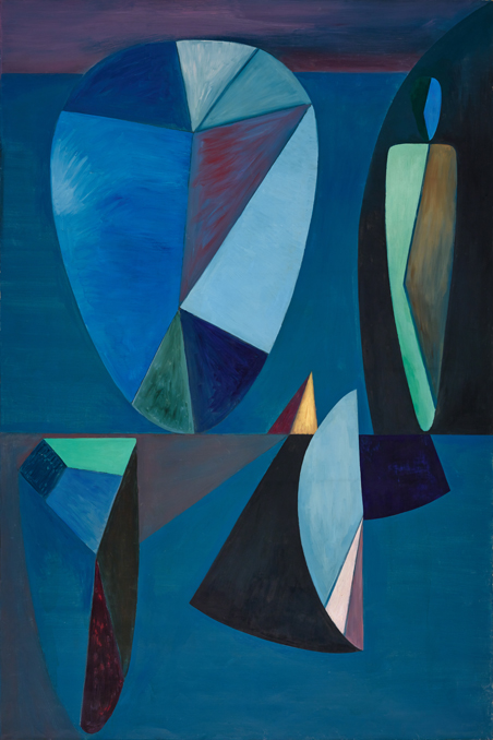 Wolfgang Paalen,  La Roue De L'orage , 1936, Oil on canvas, 76 5/8 x 50 ¾ inches (194.6 x 128.9 cm)