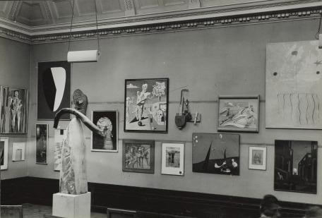 Wolfgang Paalen's  Cadran Lunaire  in the International Surrealist Exhibition, London, June 11 — July 4 , 1936