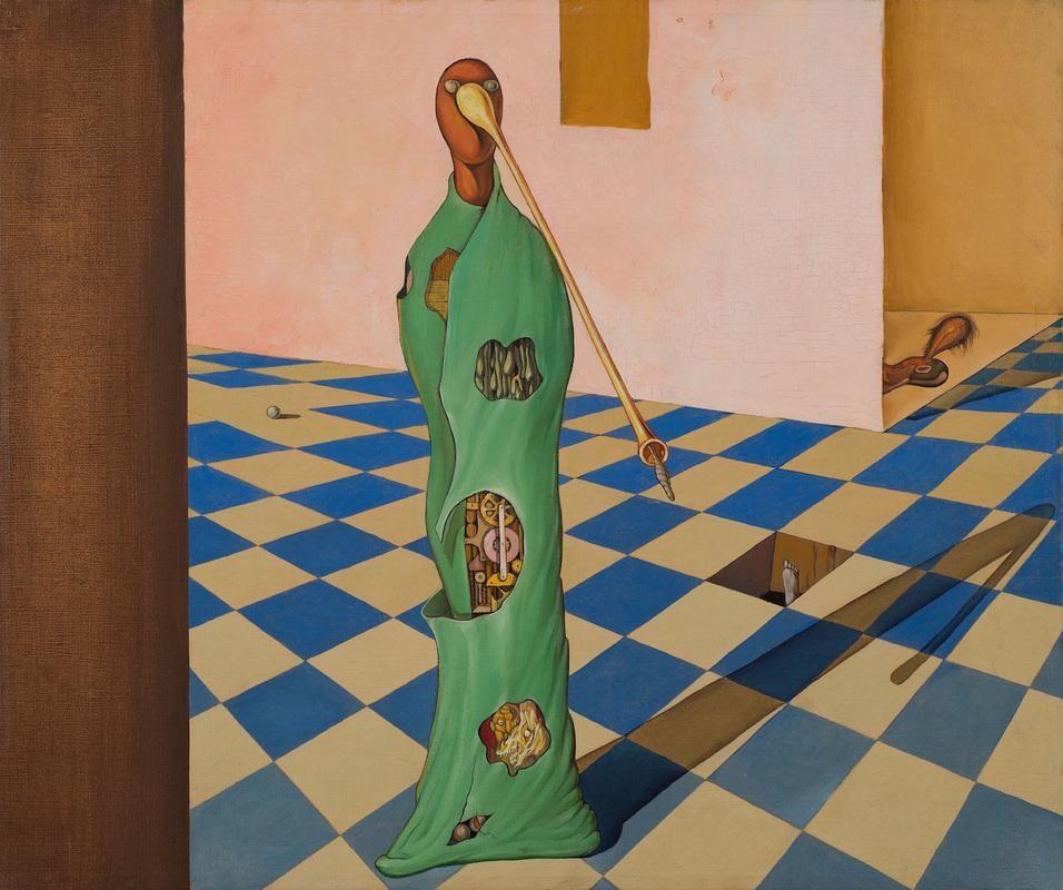"""Victor Brauner, """"Indicateur de l'Éspace,"""" c. 1934. Oil on canvas 17 7/8 x 21 3/8 inches (55.8 x 54.3 cm)"""