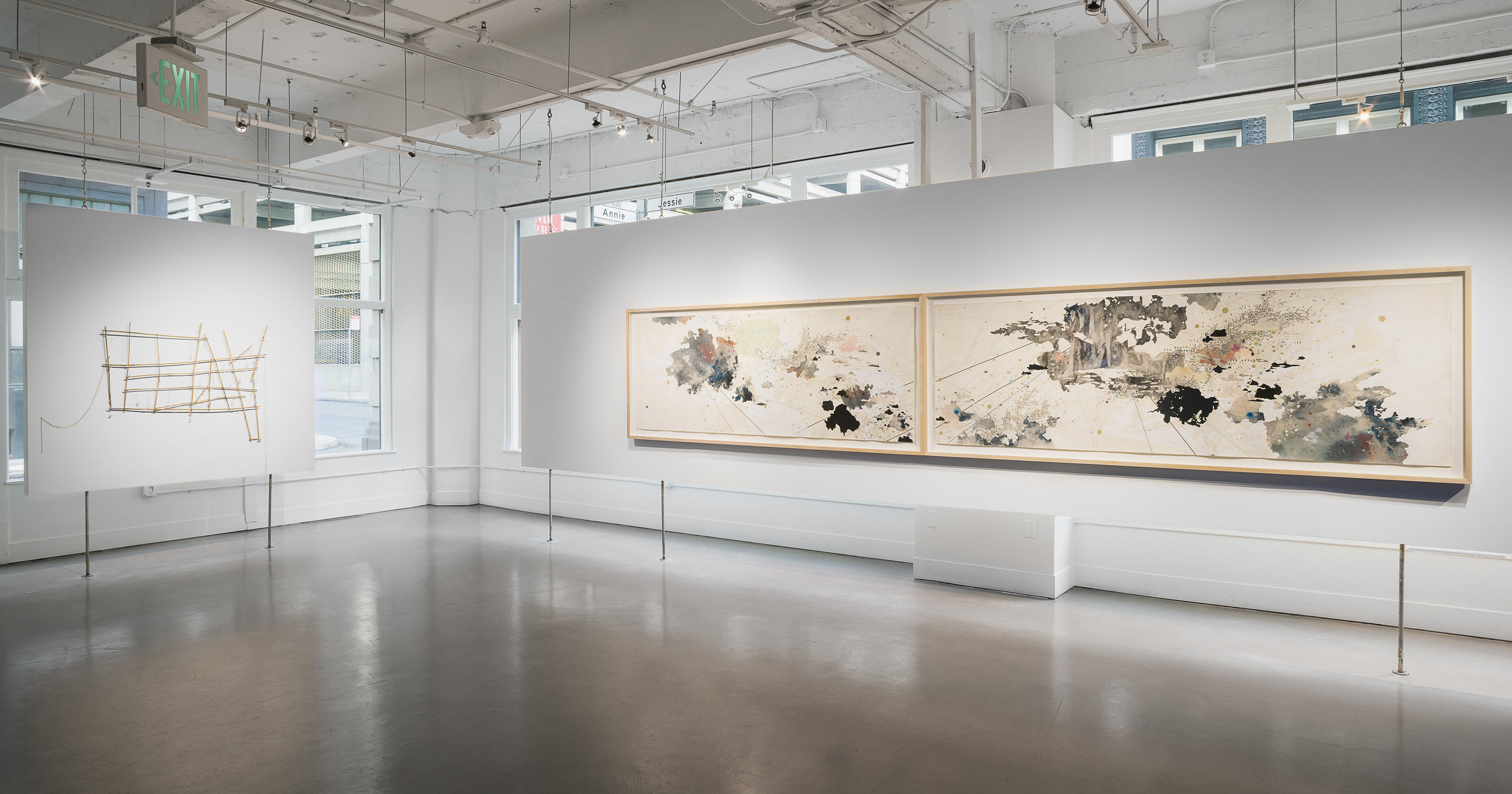 Seeking Civilization: Art and Cartography,  installation view, Gallery Wendi Norris, March 23 - May 13, 2017, photography: Hewitt Photography