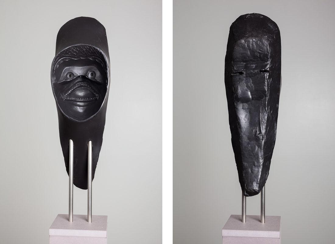 Michael Fliri,  #6,  2014, Artestone, varnish, steel and MDF, 19 5/8 x 5 1/2 x 6 1/23 inches (49.8 x 14 x 16.5 cm), Edition of 3 + 1AP