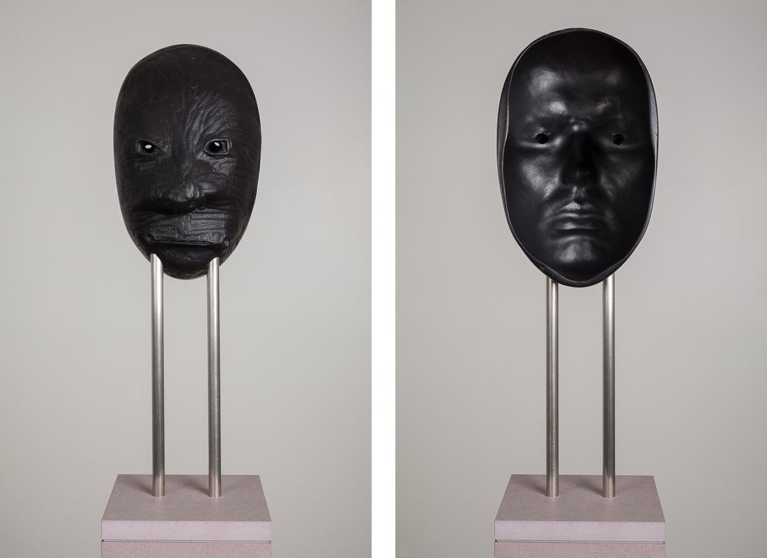 Michael Fliri,  #2,  2014, Artestone, varnish, steel and MDF, 12 x 5 3/4 x 8 3/4 inches (30.5 x 14.6 x 22.2 cm), Edition of 3 + 1AP