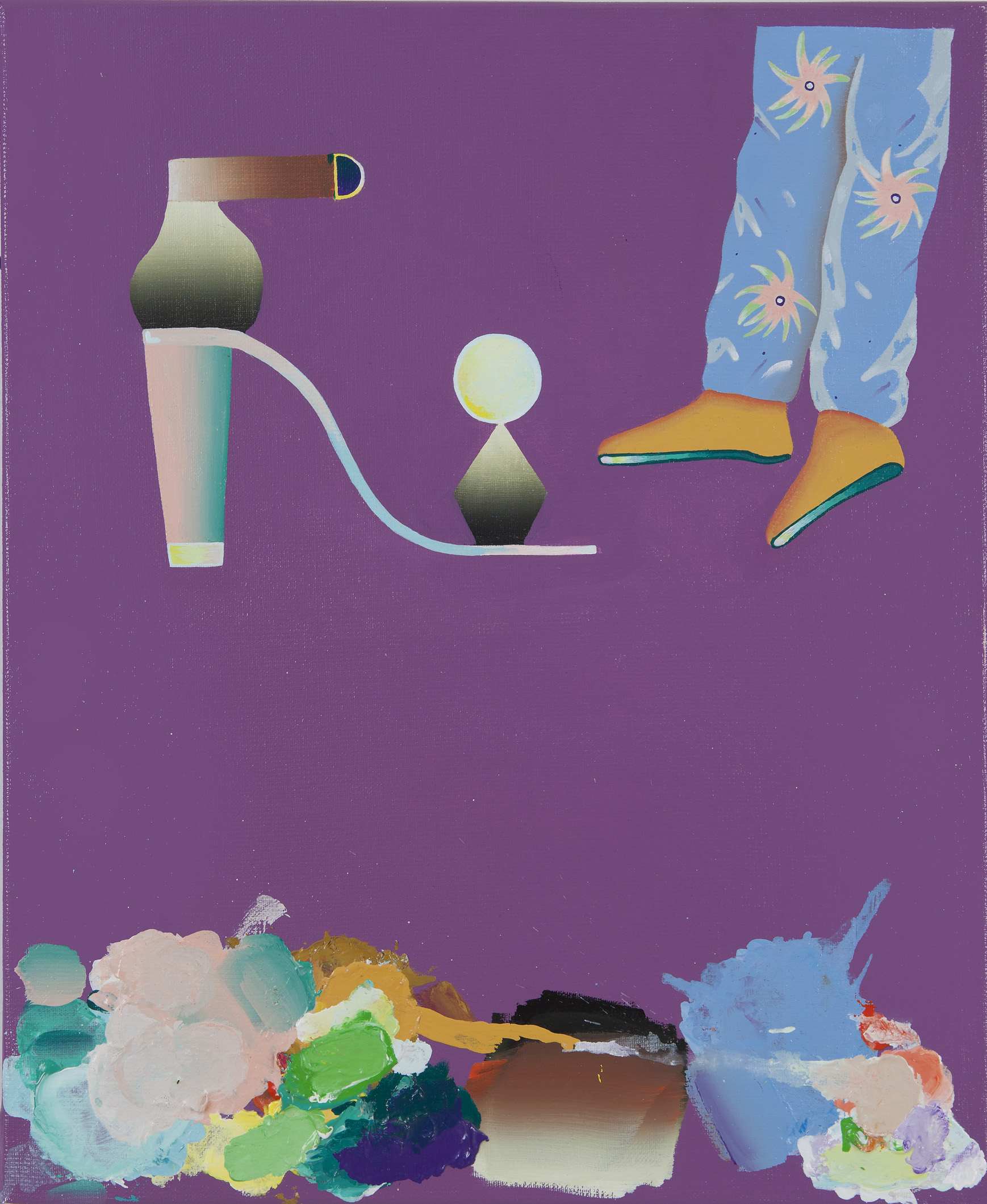 Keegan McHargue,  Untitled (Leisure) , 2009, Acrylic on linen, 22 x 16 inches (55.9 x 40.6 cm)