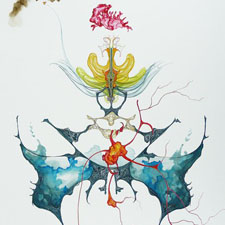 Kate Eric,  Moth 2 , 2010, Acrylic on Paper, 29 x 21 inches (74 x 53 cm)