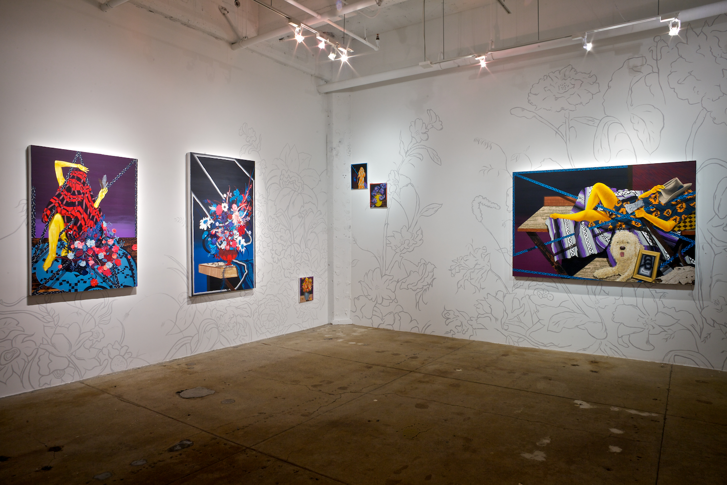 Amir H. Fallah: The Collected,  installation view, Gallery Wendi Norris, San Francisco, CA, March 14 — April 27, 2013