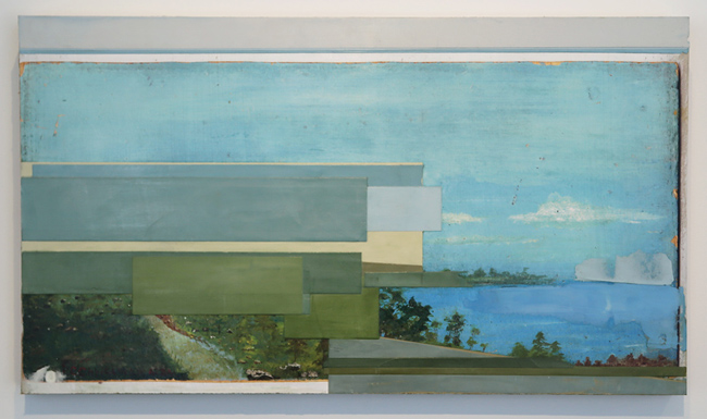 Castaneda/Reiman ,   Untitled Landscape #3,  2013, pigment printed drywall, drywall mud, wood, 13.5 x 24 inches (34.3 x 61 cm)