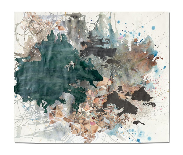 Val Britton,  Under Cover of Stars,  2016, Graphite, ink, and collage on paper, 60 x 71 inches (152.4 x 180.3 cm)