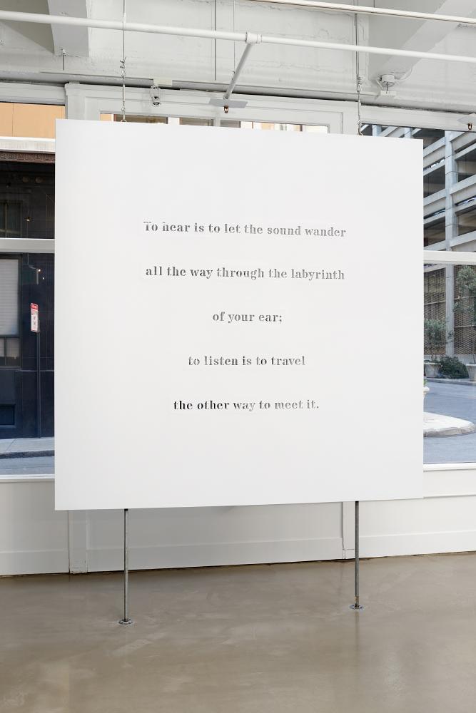 Ana Teresa Fernández: Erasure,  installation view, Gallery Wendi Norris, March 10 - April 16, 2016, photography: John Janca