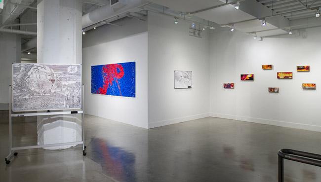 Sean Cordeiro & Claire Healy: Architects of Destruction,  installation view, Gallery Wendi Norris, San Francisco, CA, September 4 — November 1, 2014, Photographer: JKA Photography