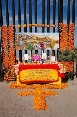 Day of the Dead is observed at the barrier in 2005. (Maria Teresa Fernandez)