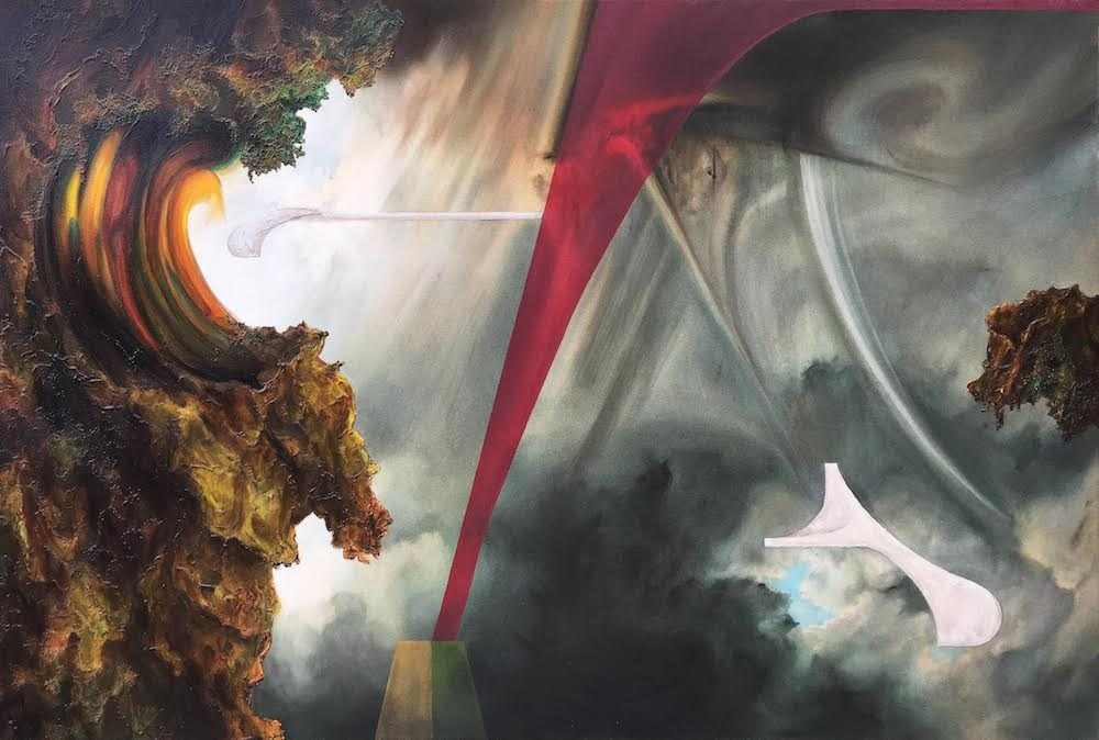 Pilgrims II,2018 Acrylic on canvas 30 x 40 inches (76.2 x 111.8 cm)
