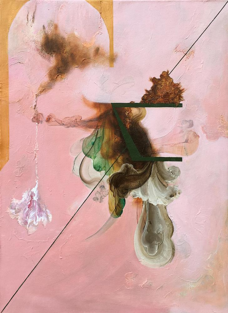 Reredo I,2018 Acrylic on canvas 30 x 22 inches (76.2 x 55.9 cm)