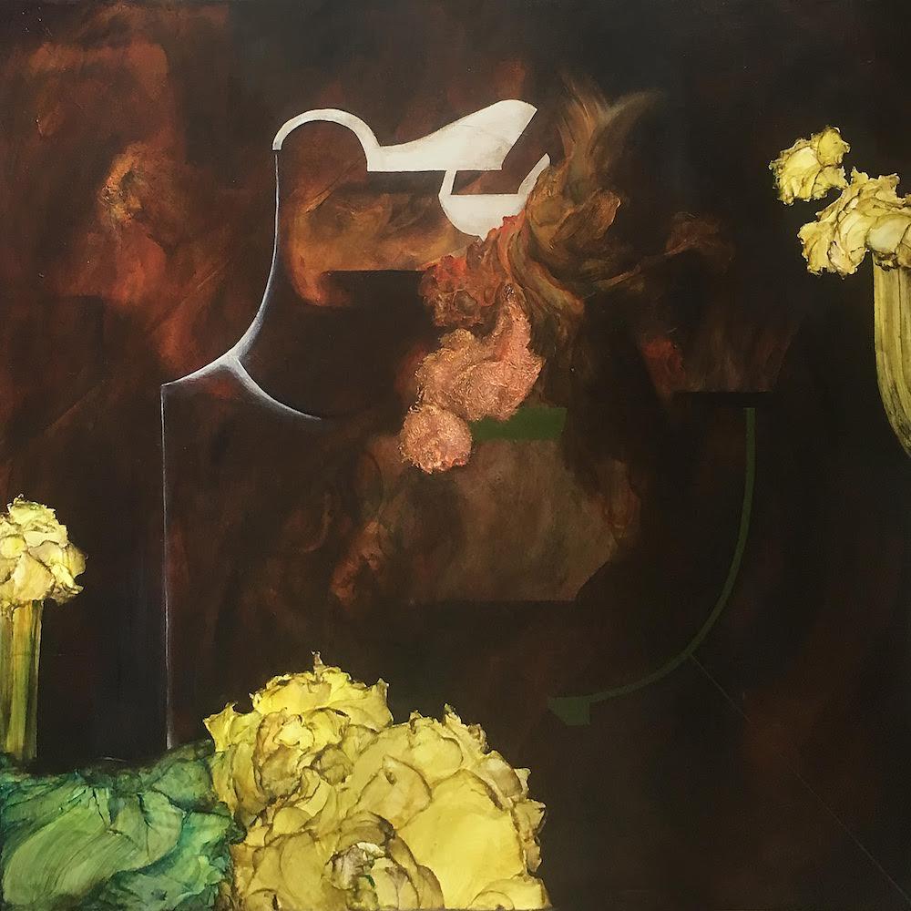 Night Gardener III,2018 Acrylic on canvas 36 x 36 inches (91.4 x 91.4 cm)