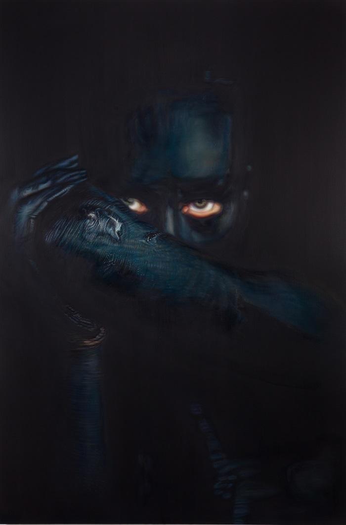 Ana Teresa Fernandez,  Erasure 5 (untitled documentation),  2016, Oil on canvas, 72 x 48 inches (182.9 x 212.9 cm)