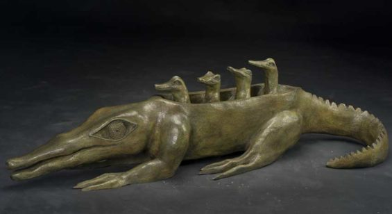 'Mother Is Always Right:' bronze sculpture by Carrington.
