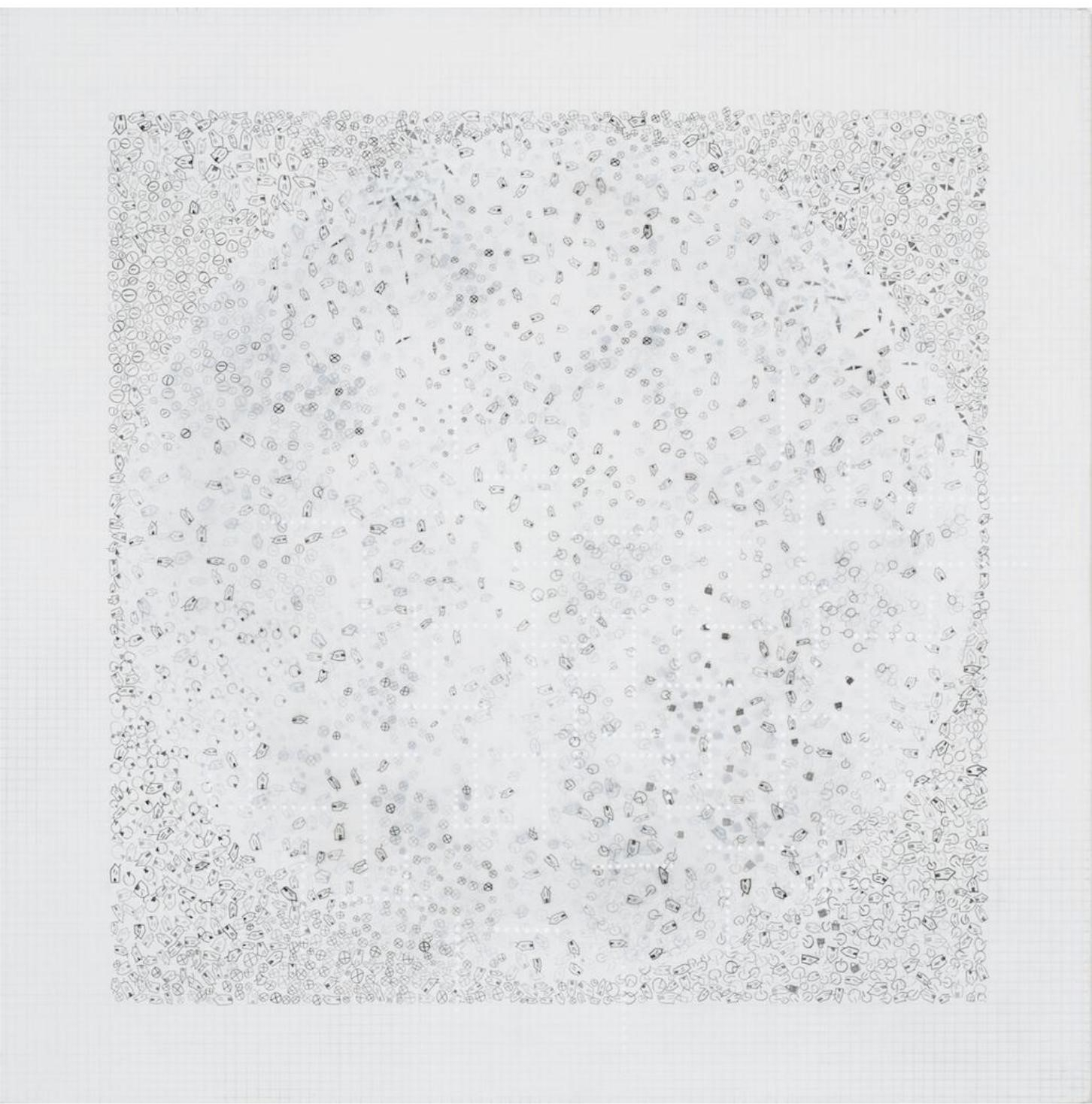 Indira Martina Morre.  Signs II , 2012; Graphite, ink, and gesso on linen over panel. Courtesy the Artist.