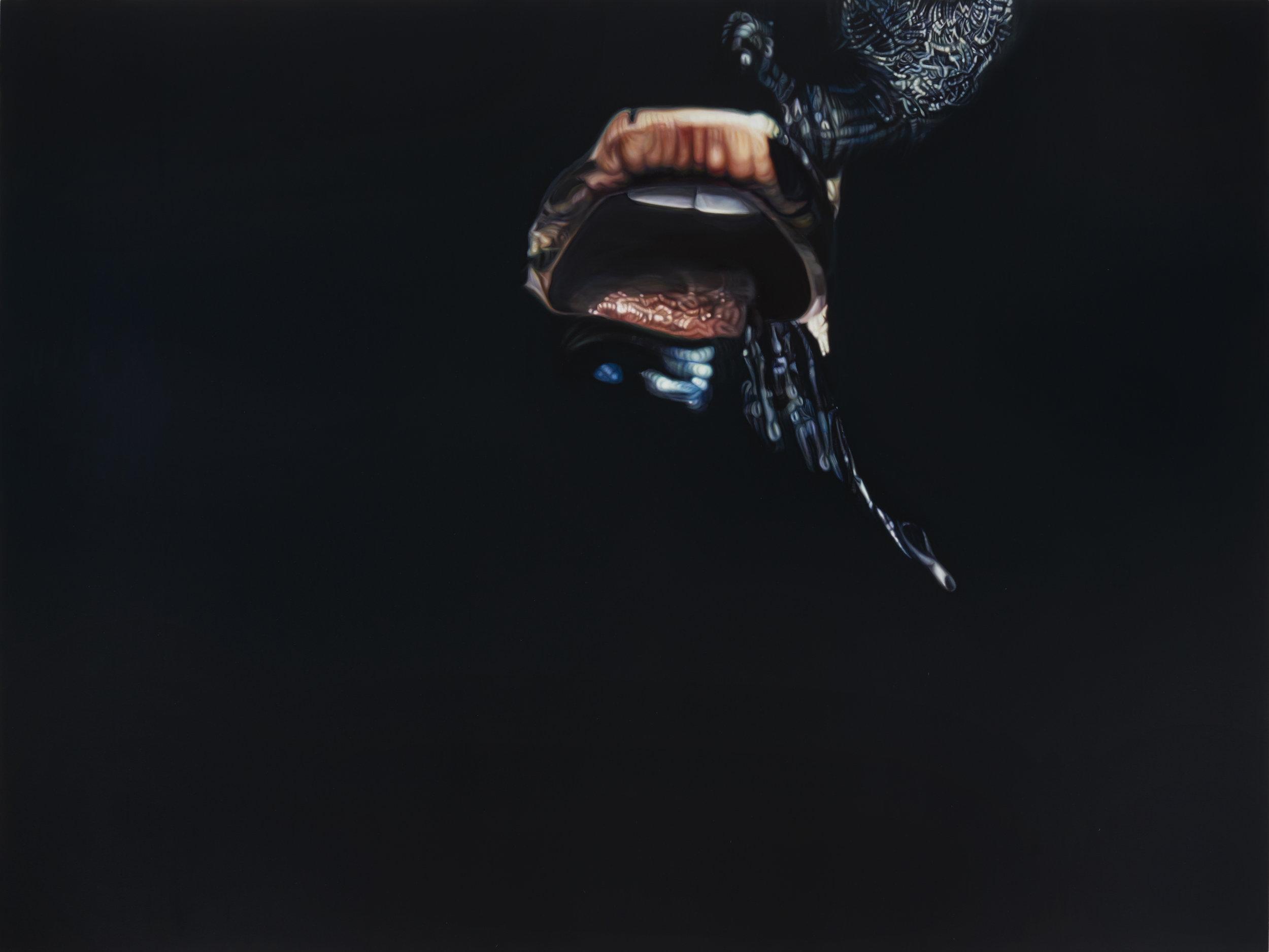 Ana Teresa Fernández,  Erasure 2 (performance documentation) , 2016, Oil on canvas, 72 x 98 inches (183 x 249 cm)