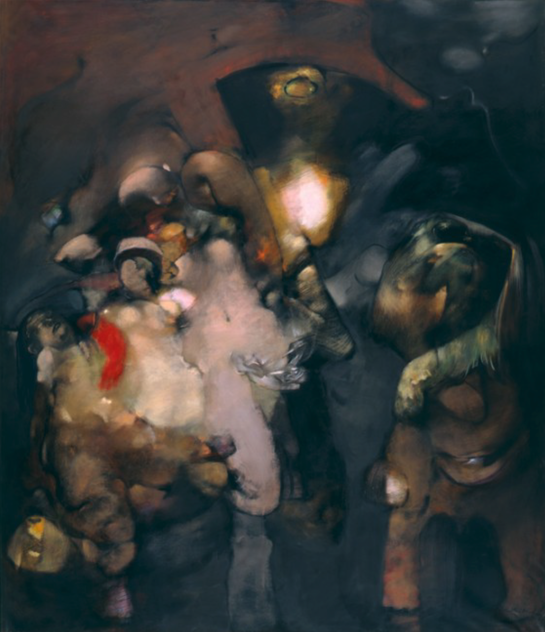 Dorothea Tanning,  Elles Se Detachent, Majestueuses (Majestically),  1965 - 1984, Oil on canvas, 71 3/4 x 61 1/4 inches (182.2 x 156 cm)