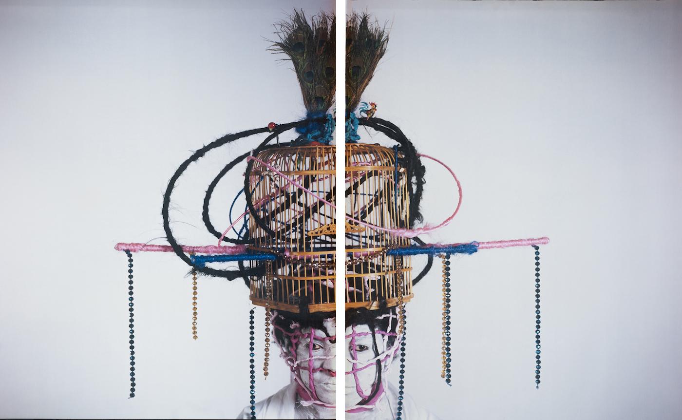 María Magdalena Campos-Pons,  The House,  c. 2013, Dipytch, Polaroid Polacolor Pro 24 x 20 photograph, 24 x 20 inches (61 x 50.8 cm)