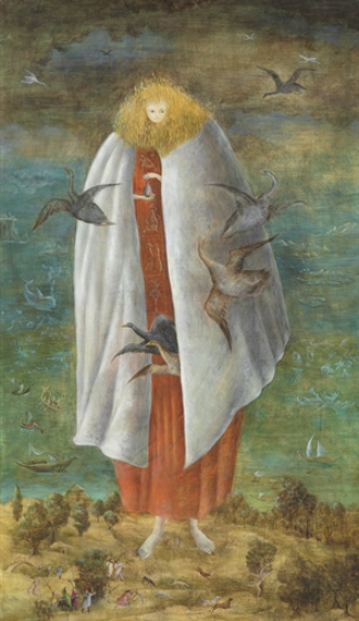 Leonora Carrington,  The Giantess (The Guardian of the Egg) , 1942. Courtesy of Christie's.