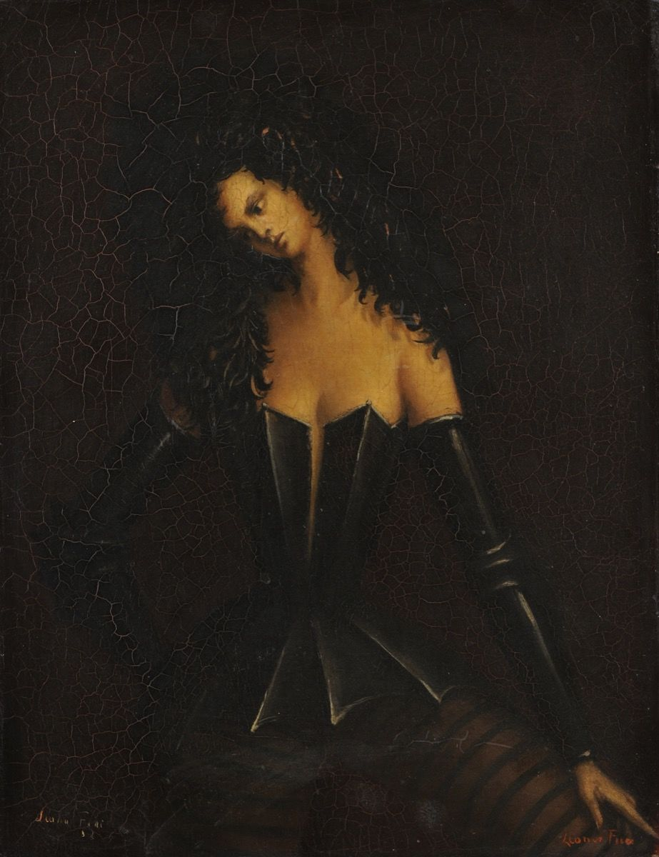 Leonor Fini,  Woman in Armor I (Femme en armure I) , c. 1938. Courtesy of Weinstein Gallery, San Francisco, and the Museum of Sex, New York.
