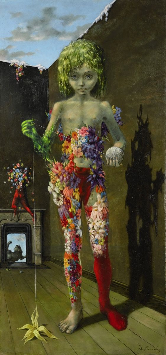 Dorothea Tanning,  The Magic Flower Game , 1941. Courtesy of Sotheby's