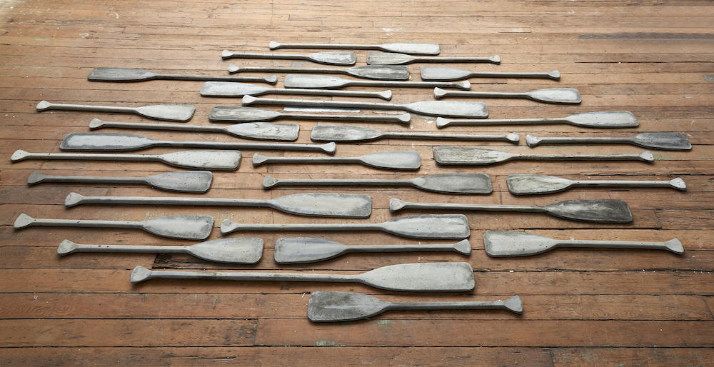 Ana Teresa Fernández,  Untitled (Of Bodies and Borders),  2018, Cement, Dimensions variable