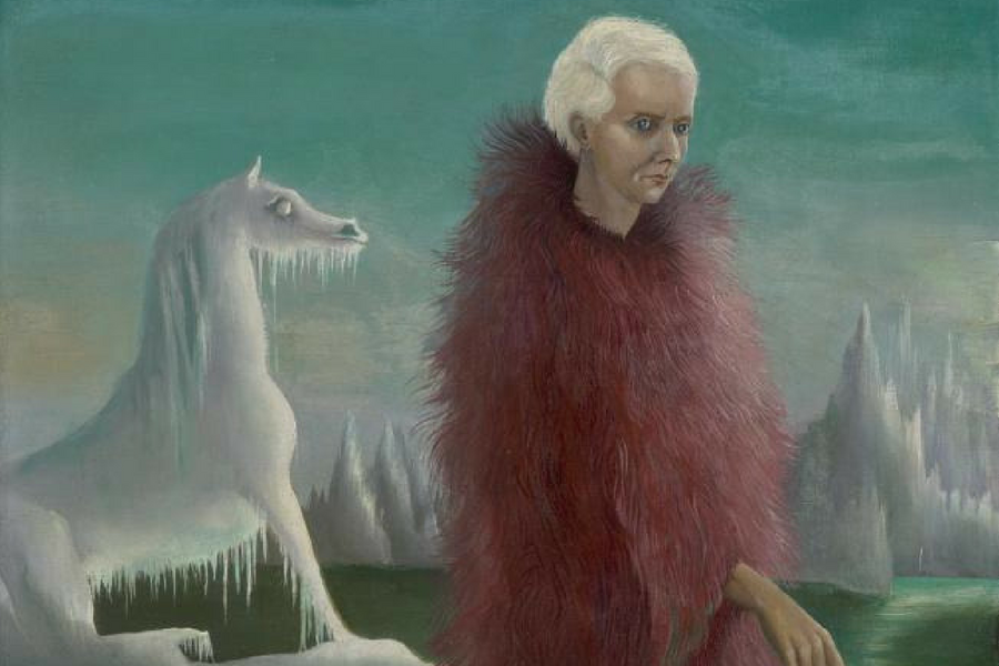 Leonora Carrington (1917-2011)Portrait of Max Ernst, c.1939Oil on canvas, 50.3 x 26.8 cm Collection: National Galleries of ScotlandPurchased with assistance from the Henry and Sula Walton Fund and the Art Fund, 2018 © The estate of Leonora Carrington, DA