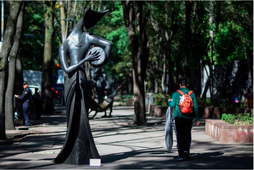 A Carrington sculpture in Mexico City CREDIT: GETTY
