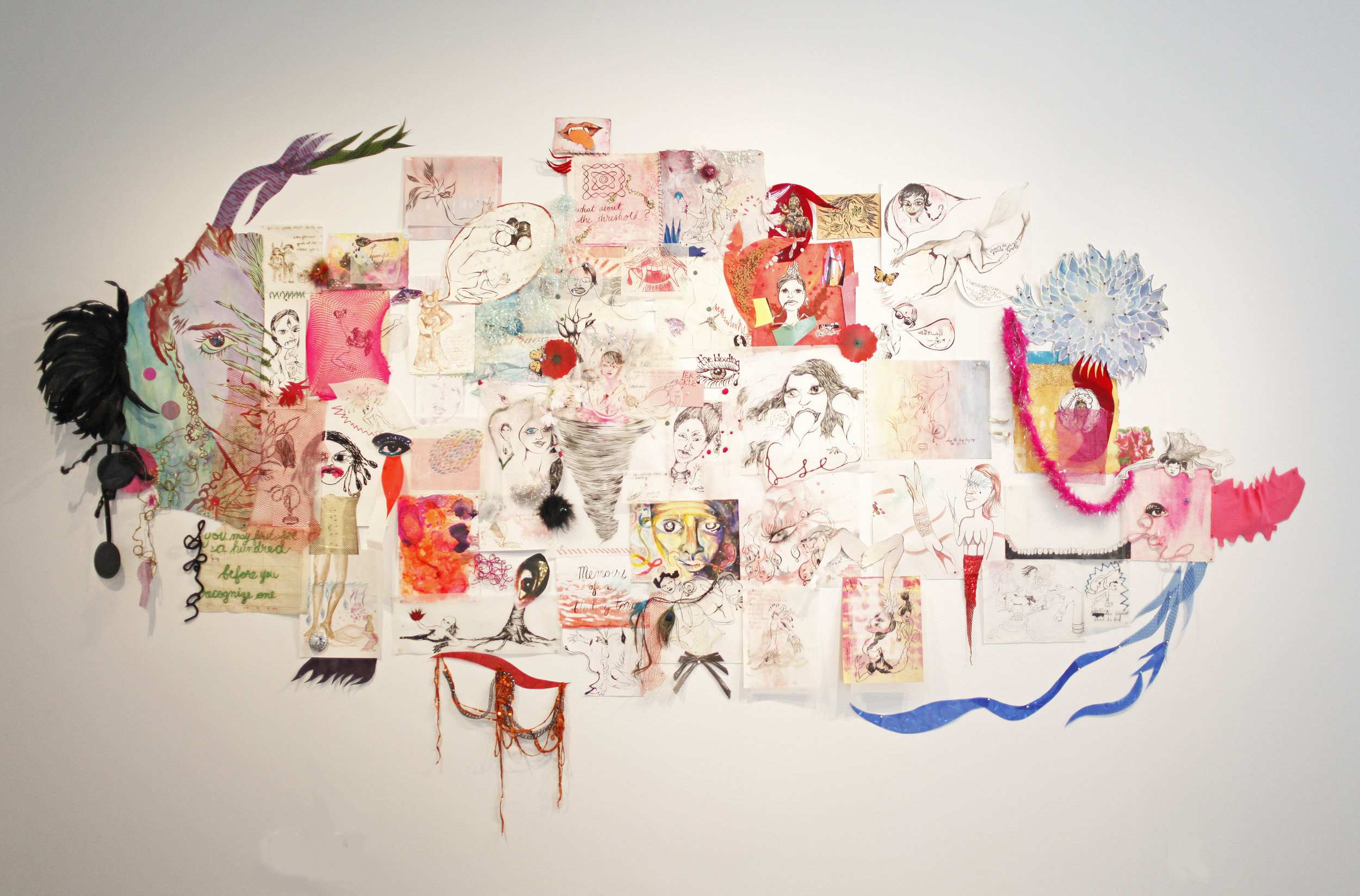 Threads of Memory: One Thousand Ways of Saying Goodbye,  installation view, Gallery Wendi Norris, San Francisco, CA, October 21 – November 15, 2017