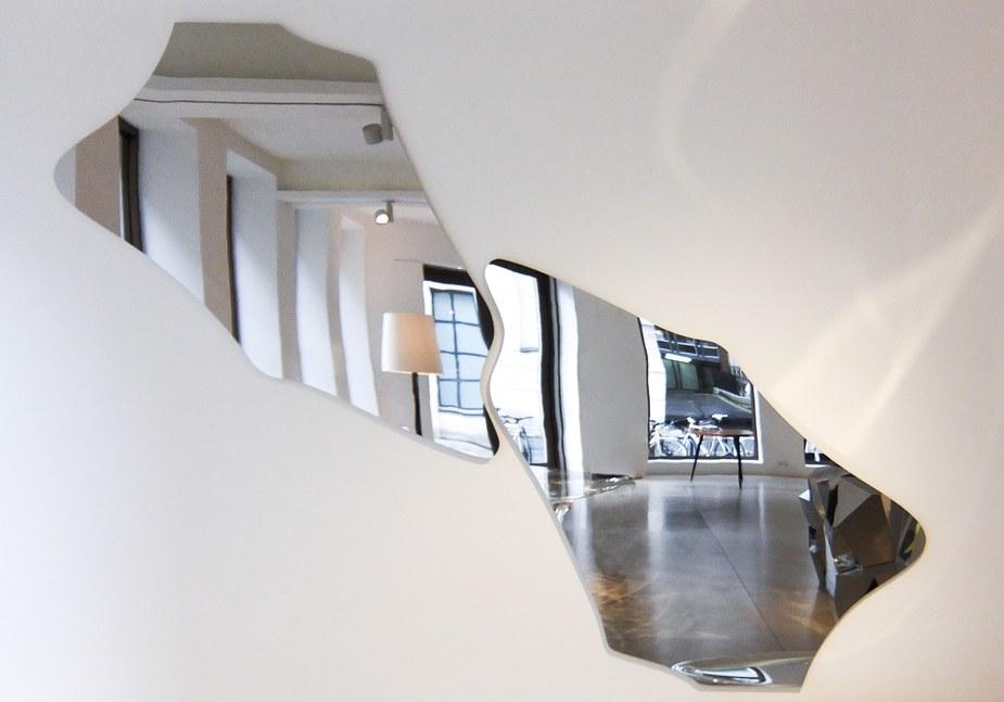 "Zaha Hadid's ""Cloud-I"" mirror at David Gill Gallery.  Photo: Courtesy of David Gill Gallery"
