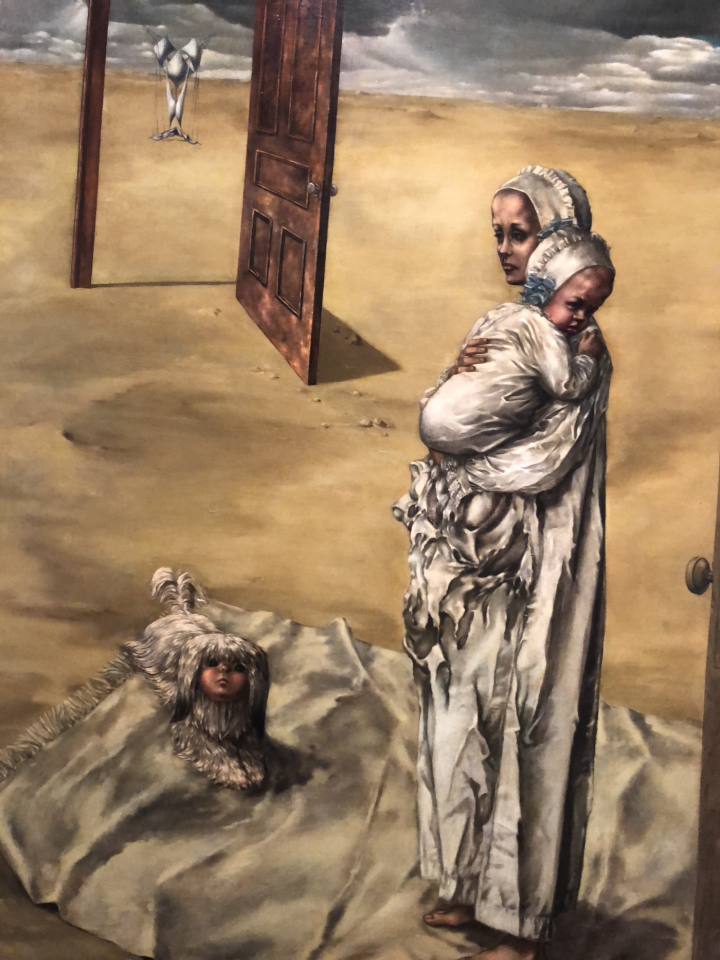 """Dorothea Tanning, """"Maternity"""" (1946-47) (all images courtesy the author for Hyperallergic)"""