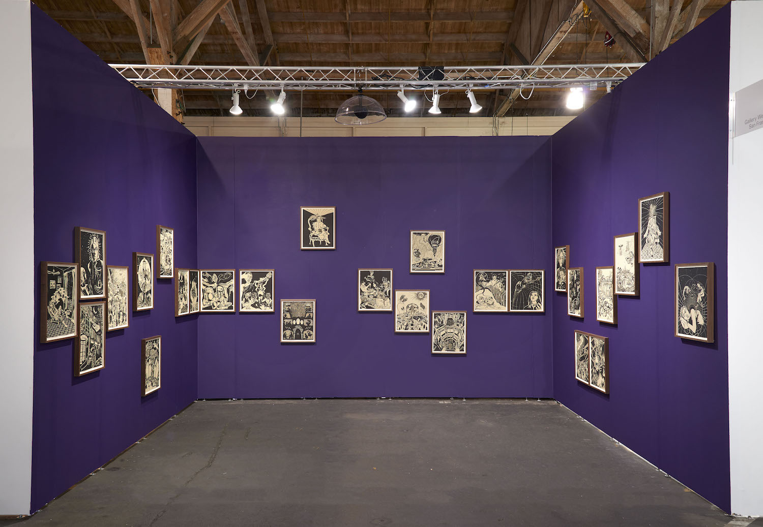 UNTITLED Art San Francisco,  installation view, Pier 35, San Francisco, CA, January 18 - January 20, 2019