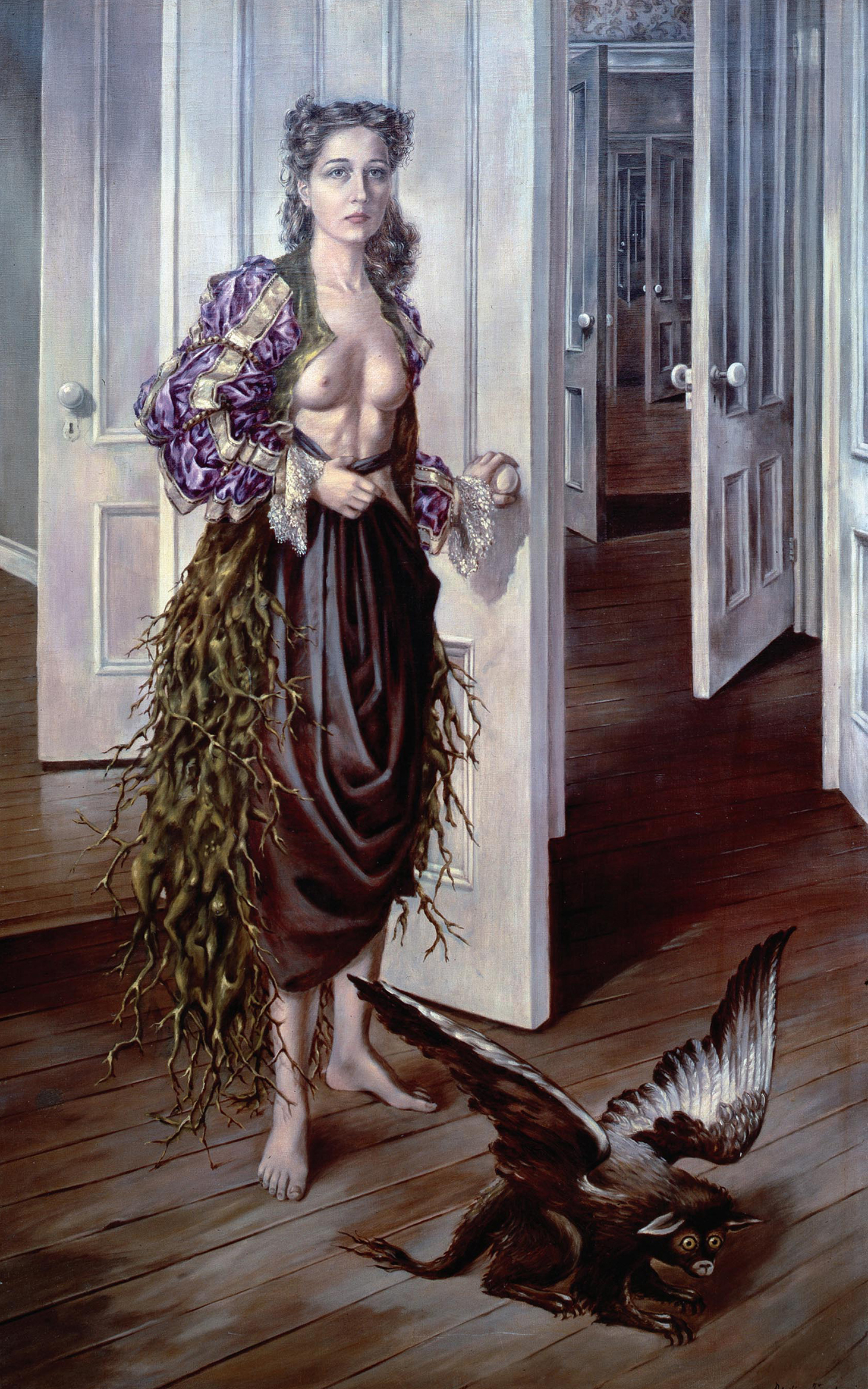 "Dorothea Tanning, ""Birthday"" (1942), oil paint on canvas, 1022 x 648 mm (courtesy Philadelphia Museum of Art © DACS, 2018)"
