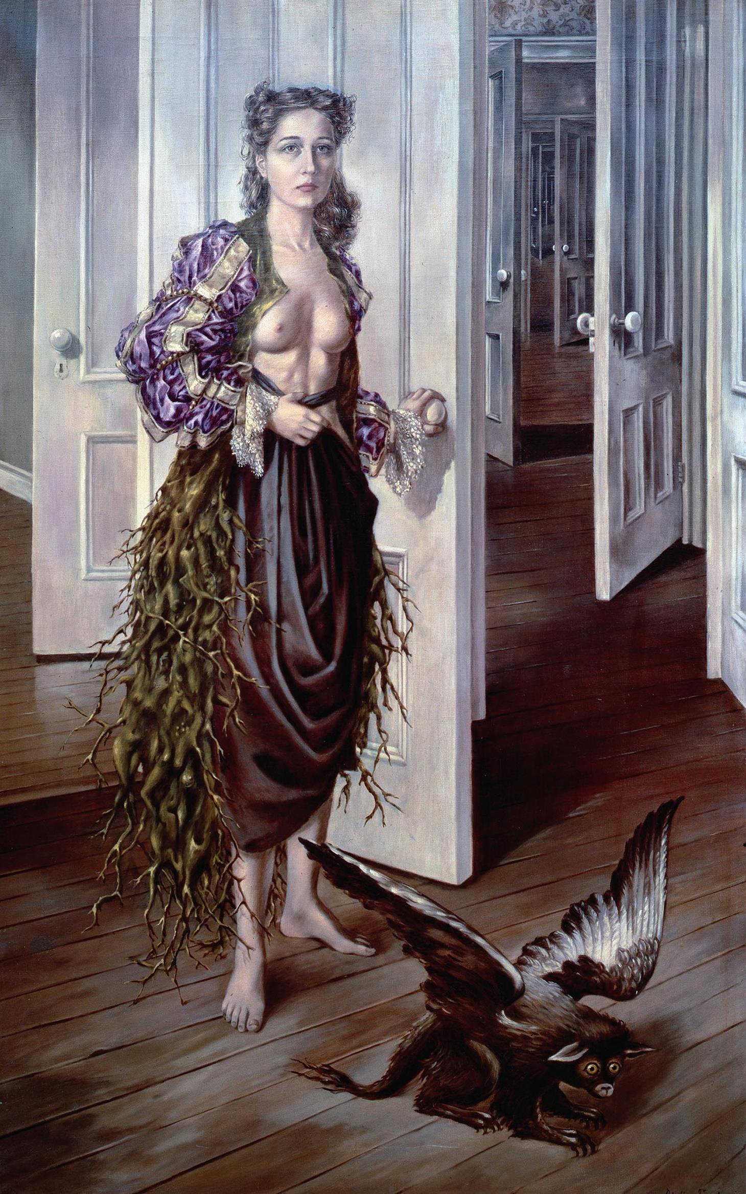 "Dorothea Tanning, ""Birthday"" (1942), oil paint on canvas, 1022 x 648 mm (courtesy Philadelphia Museum of Art © DACS, 2018)"