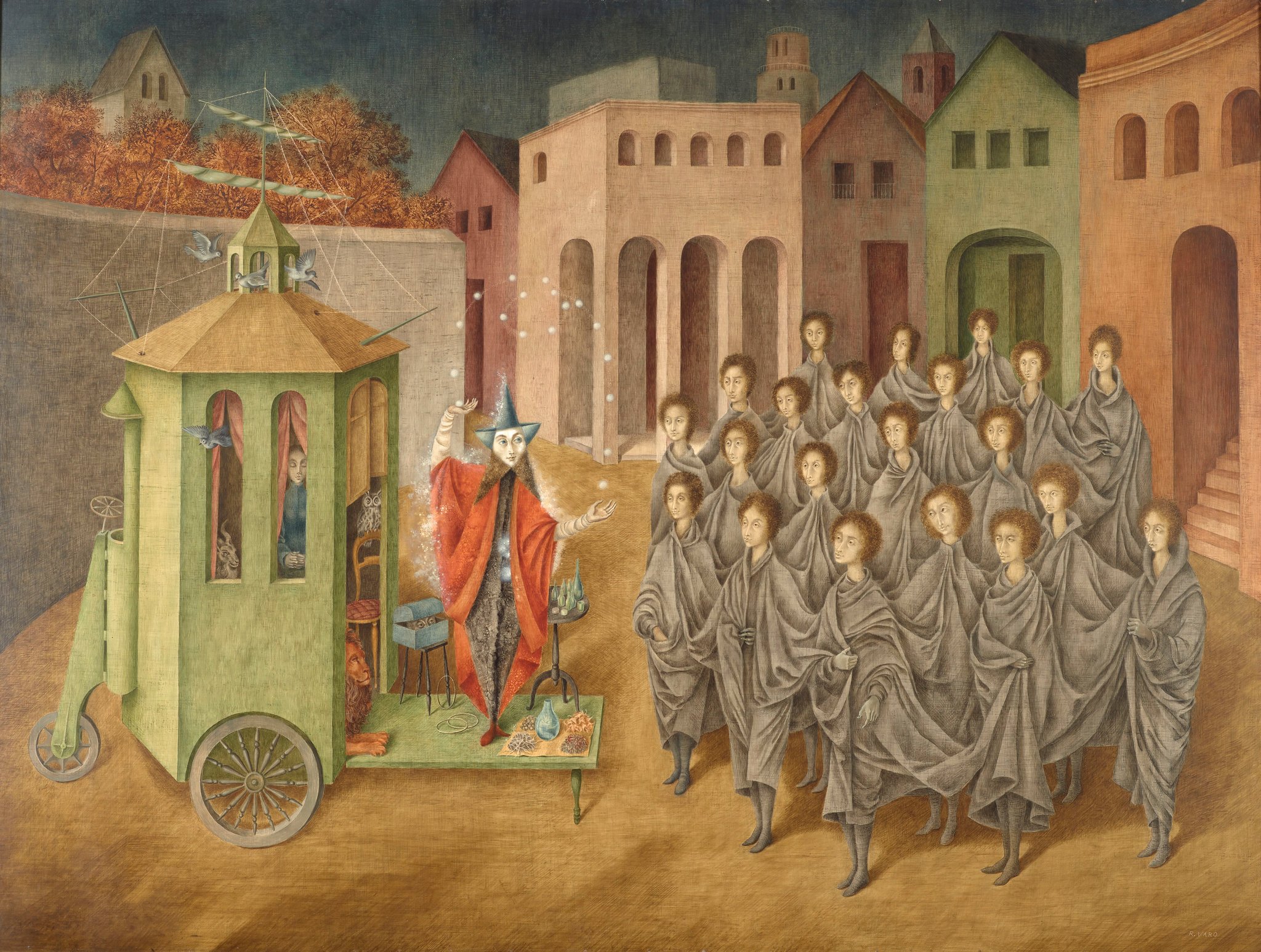 """The Juggler (The Magician),"" 1956, will be the first painting to enter the collection by the Spanish-born, Mexico City-based Remedios Varo.CreditArtists Rights Society (ARS), New York/VEGAP, Madrid; The Museum of Modern Art"