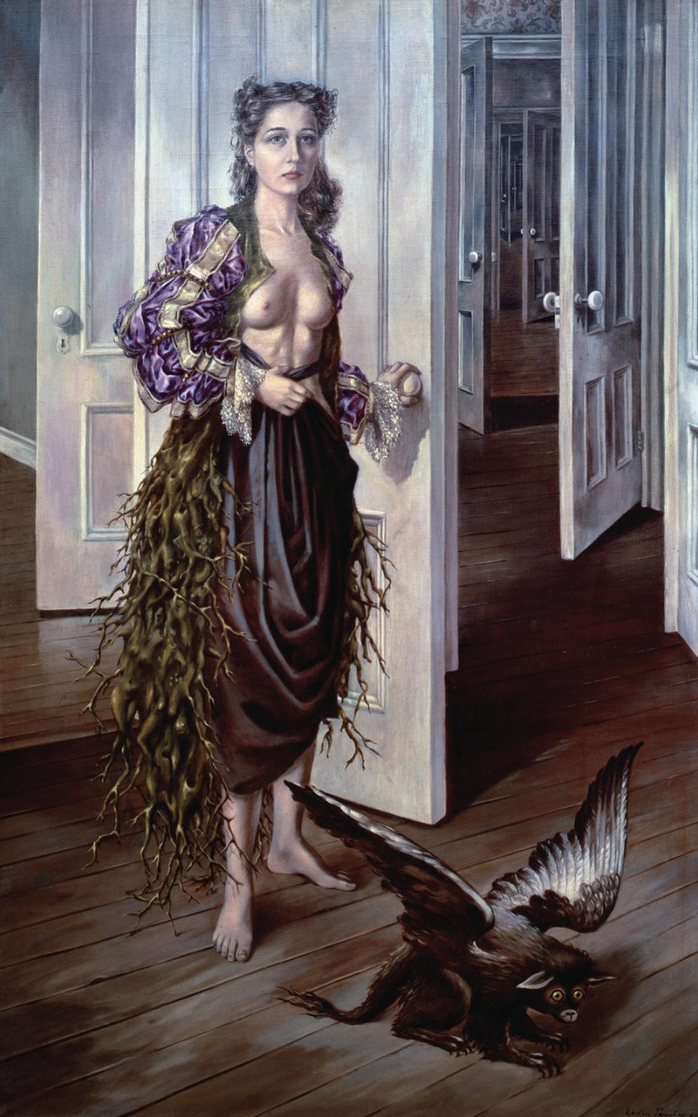 Dorothea Tanning,  Birthday , 1942, oil on canvas, 102 × 64 cm. Courtesy: Philadelphia Museum of Art © DACS, 2019