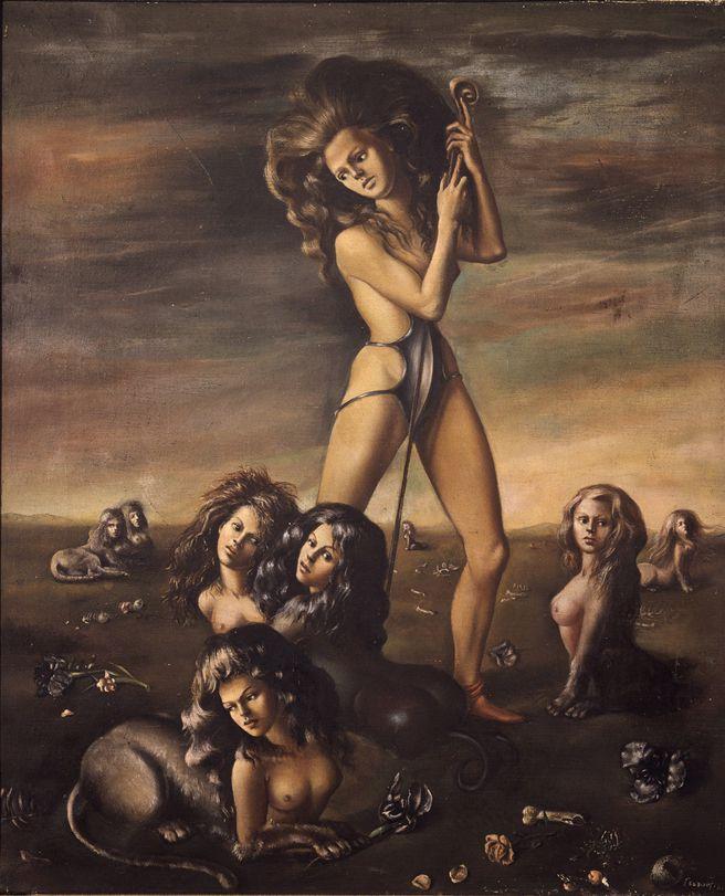 La Bergère des Sphinx  (1941). Image via Leonor Fini.