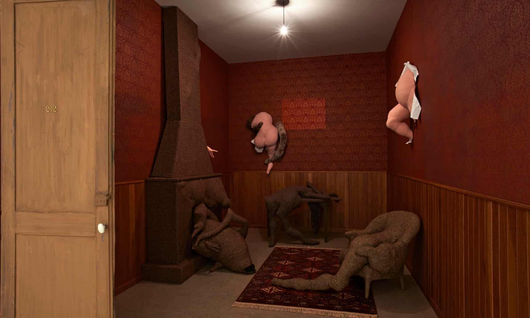 Film set of the mind ... Dorothea Tanning's Hôtel du Pavot, Chambre 202 (1970-1973).  Photograph: DACS, 2018