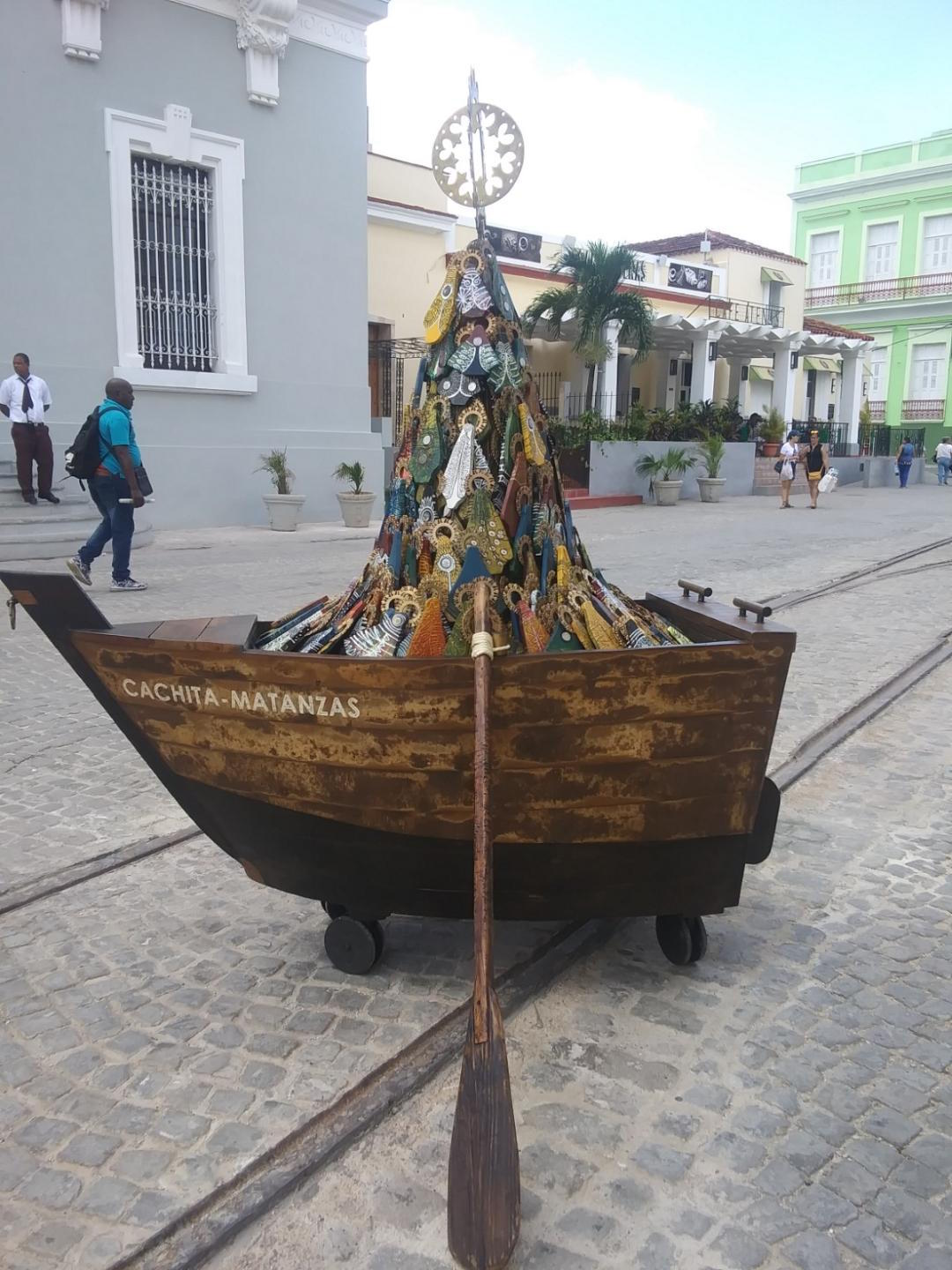 A sculpture of La Virgen de la Caridad del Cobre, a patron saint of Cuba, by Matanzas artist Adrián Sancho Photo: Cuban Art News
