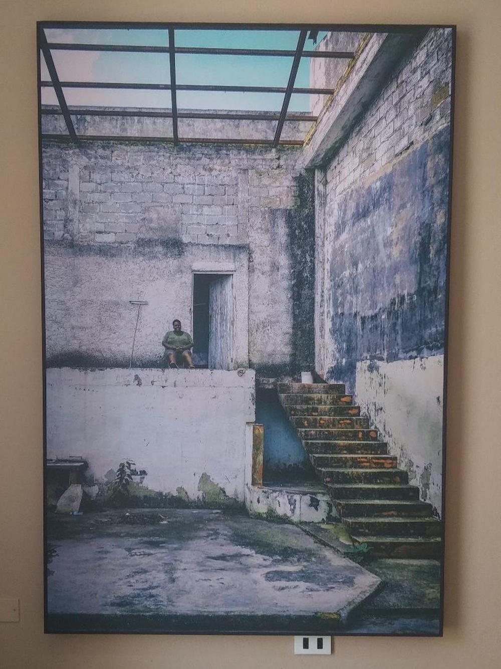 "Claudia Padrón's photographs document former movie theaters. Here, her ""Cine 13 de marzo, Cárdenas"" Photo: Cuban Art News"