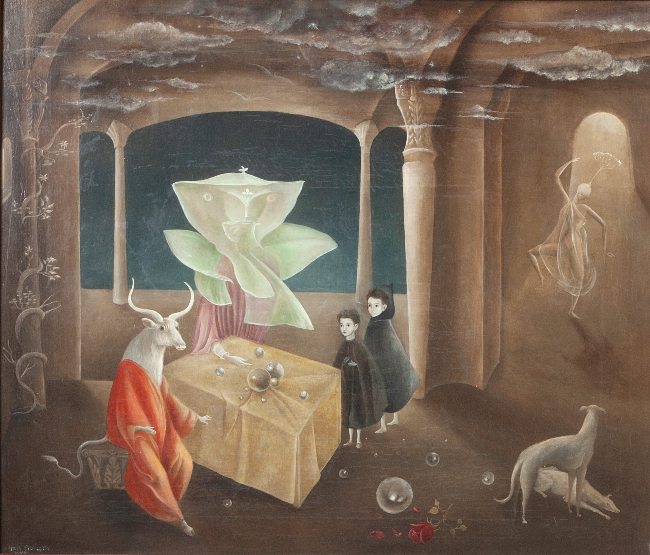 LEONORA CARRINGTON, AND THEN WE SAW THE MINOTAUR!, 1953. COURTESY GALLERY WENDI NORRIS © 2019 ESTATE OF LEONORA CARRINGTON / ARTISTS RIGHTS SOCIETY (ARS), NEW YORK.