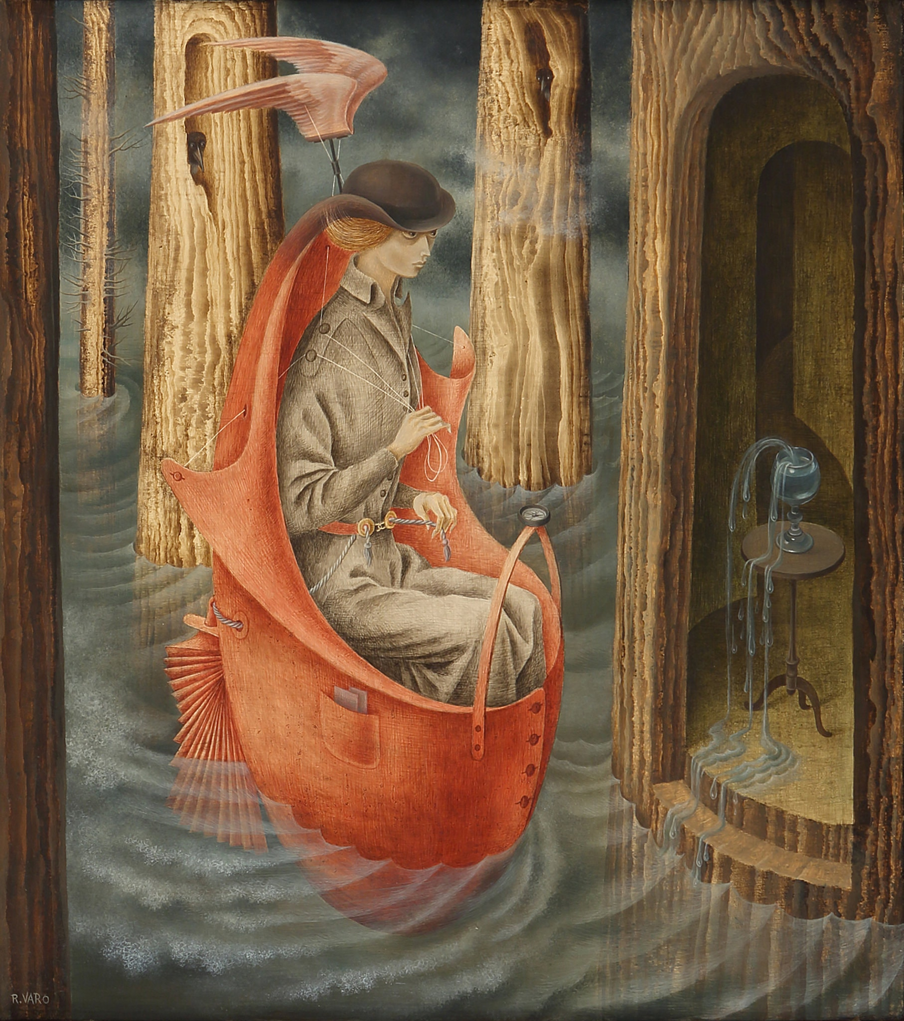 "Remedios Varo's ""Exploration of the Sources of the Orinoco River,"" from 1959.  Artists Rights Society (ARS), New York/VEGAP, Madrid"