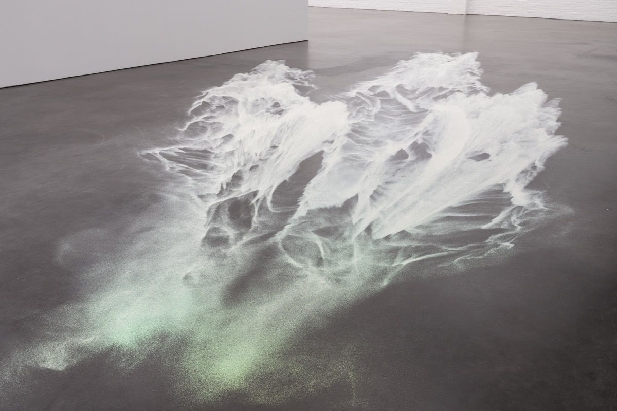 Ann Veronica Janssens,  Untitled (White Glitter) , 2016. Image © Peter Cox, De Pont Museum, Tilburg (NL). Courtesy of the artist and Bortolami, New York.