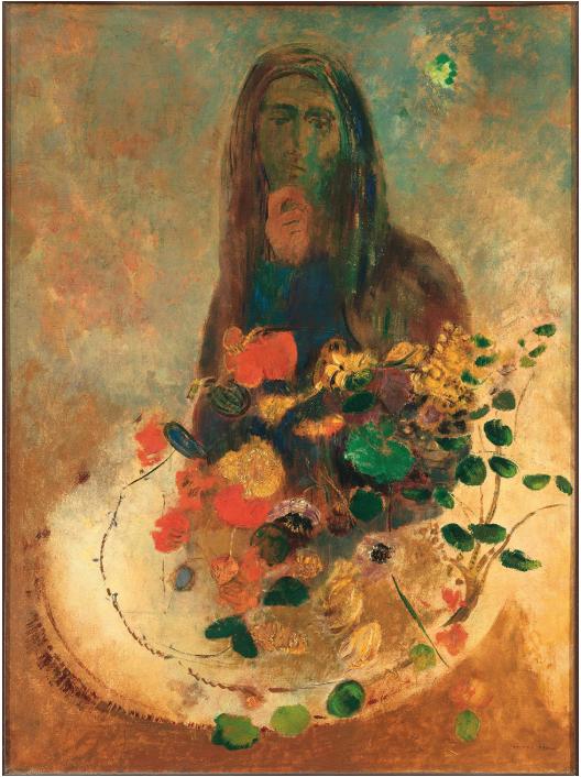 Odilon Redon,  Mystery , c.1910, oil on canvas, 73 × 54 cm. Courtesy: Wikimedia Commons