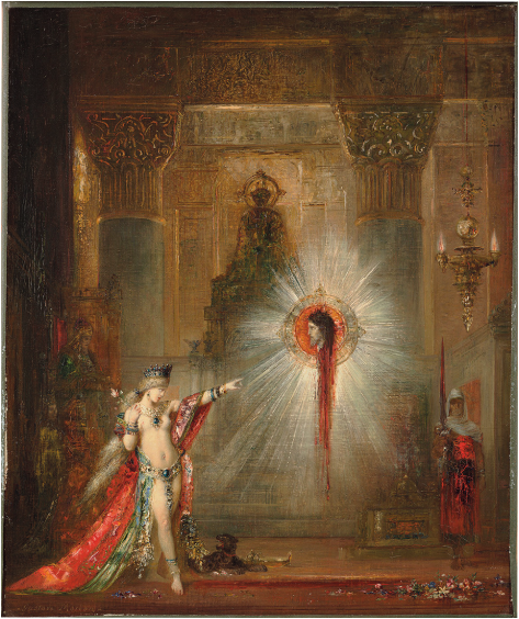 Gustave Moreau,  The Apparition , 1876–77, oil on canvas, 56 × 47 cm. Courtesy: Harvard Art Museums/Fogg Museum, Bequest of Grenville L. Winthrop